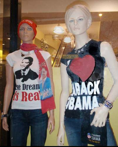 Mannequins for Obama