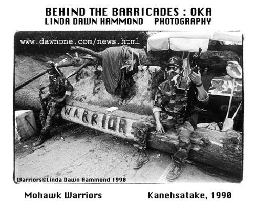 Mohawk Warriors at the blockade during standoff.
