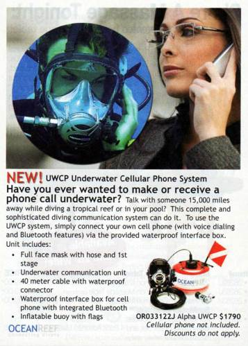 cell phone used underwater