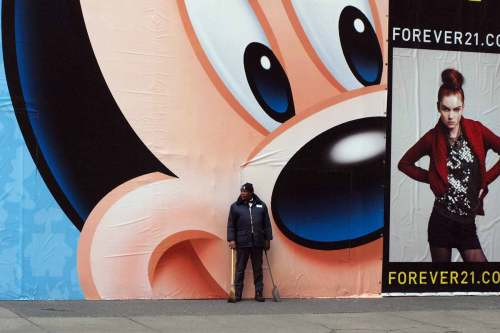 Mickey Mouse in Times Square