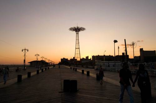 Sunset on Boardwalk, Coney Island