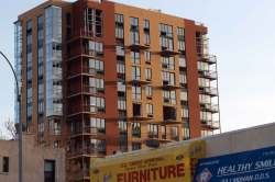 Half-finished condo building in Bed-Stuy, Brooklyn